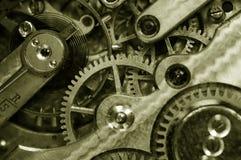 Insideof un reloj de bolsillo viejo Imagen de archivo libre de regalías