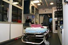 Insideof una ambulancia 2 Imágenes de archivo libres de regalías