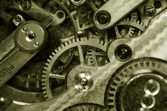 Insideof une vieille montre de poche Image libre de droits