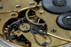 Insideof une vieille montre de poche Images libres de droits