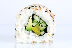 Insideout roll against white background Stock Photos