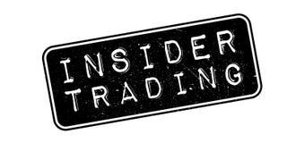 Insider Trading rubber stamp. Insider Trading, rubber stamp on white. Print, impress overprint Royalty Free Stock Images