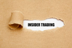 Insider Trading Torn Paper Concept Royalty Free Stock Image
