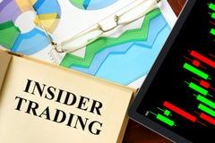Insiderhandel stockfoto