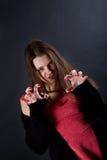 Insidious cunning girl Stock Photos