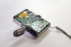 Insidor av den enkla digitala kameran Arkivbilder