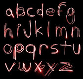 Insieme al neon di alfabeto Fotografia Stock