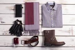 Insieme alla moda dei vestiti di affari Fotografia Stock