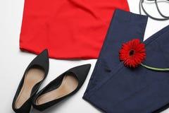 Insieme alla moda dei vestiti femminili Fotografia Stock Libera da Diritti