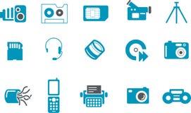 Insieme alta tecnologia dell'icona Fotografia Stock Libera da Diritti