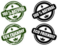 Insieme amichevole di Eco/naturale grunge del bollo Fotografia Stock Libera da Diritti