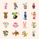 Insieme animale dell'icona Fotografia Stock