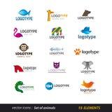 Insieme animale di logo Fotografia Stock Libera da Diritti