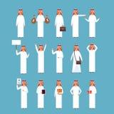Insieme arabo dell'uomo, raccolta di Wearing Traditional Clothes dell'uomo d'affari di Islam Fotografia Stock
