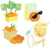 Insieme arancio dell'immagine illustrazione di stock