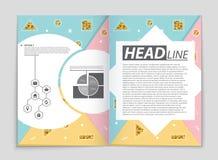 Insieme astratto del fondo della disposizione di vettore Per progettazione del modello di arte, lista, pagina anteriore, stile di illustrazione vettoriale