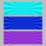 Insieme astratto del modello dell'insegna di scoppio del raggio illustrazione vettoriale