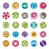 Insieme astratto dell'icona, raccolta di simboli di vettore Fotografia Stock Libera da Diritti