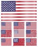 Insieme astratto della bandiera degli S.U.A. del fondo dello scarabocchio Immagini Stock Libere da Diritti