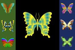 Insieme astratto della farfalla Fotografie Stock Libere da Diritti
