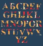 Insieme astratto di alfabeto Fotografia Stock Libera da Diritti
