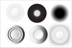 Insieme astratto di bianco del cerchio Immagini Stock Libere da Diritti