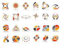 Insieme astratto di disegno dell'icona di marchio Fotografia Stock Libera da Diritti