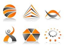 Insieme astratto di disegno dell'icona di marchio di vettore Fotografia Stock Libera da Diritti