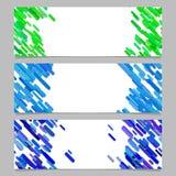 Insieme astratto di progettazione del modello del fondo dell'insegna con le bande diagonali colorate Fotografia Stock Libera da Diritti