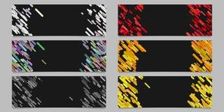 Insieme astratto di progettazione del modello del fondo dell'insegna con le bande diagonali colorate Immagini Stock Libere da Diritti