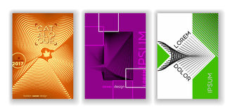 Insieme astratto di progettazione della copertura, modelli freschi di pendenza Fotografia Stock Libera da Diritti