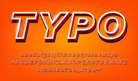 insieme audace moderno di alfabeto 3d royalty illustrazione gratis