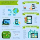 Insieme aumentato di Infographic di realtà illustrazione di stock