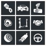 Insieme automatico dell'icona di servizio Fotografia Stock Libera da Diritti