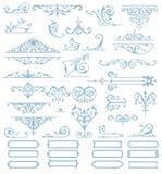 Insieme barrocco di progettazione degli ornamenti Vettore Immagini Stock
