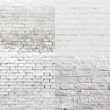 Insieme bianco di struttura del modello del muro di mattoni Fotografie Stock Libere da Diritti