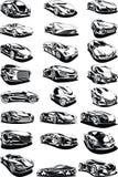 Insieme in bianco e nero dell'automobile Fotografie Stock Libere da Diritti