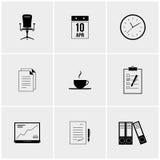 Insieme in bianco e nero delle icone Fotografia Stock Libera da Diritti