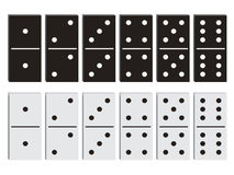 Insieme in bianco e nero di domino Fotografie Stock
