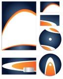 Insieme blu & arancione di vettore dell'azienda Immagini Stock