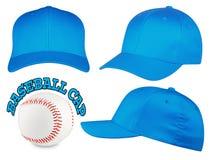 Insieme blu-chiaro del berretto da baseball Immagine Stock