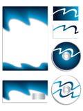 Insieme blu freddo di vettore dell'azienda Fotografia Stock
