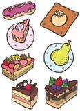 Insieme brillantemente colorato dell'illustrazione di vettore dei dolci illustrazione di stock