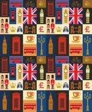 Insieme britannico dell'icona illustrazione di stock