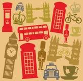 Insieme britannico dell'icona di vettore illustrazione vettoriale