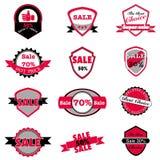 Insieme caldo di vettore delle etichette di prezzi e di vendita Fotografia Stock Libera da Diritti