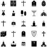 Insieme cattolico dell'icona illustrazione di stock
