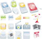 Insieme cellulare dell'icona Immagine Stock