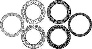 Insieme celtico del cerchio Immagini Stock Libere da Diritti