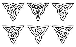 Insieme celtico del nodo Immagine Stock Libera da Diritti